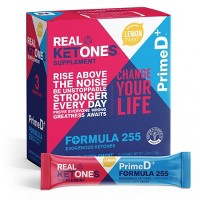Real Ketones BHB and MCT PrimeD+ Exogenous Ketone Sticks - Lemon Twist - 15ct