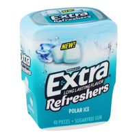 Extra Gum, Sugarfree, Refreshers, Polar Ice