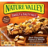 Nature Valley Sweet & Salty Dark Chocolate-Peanut & Almond Granola Bars - 6ct