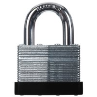 """Hyper Tough 44mm Laminated Steel Padlock with 1-3/16"""" Shackle"""
