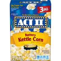 Act II Kettle Corn Microwave Popcorn Sweet and Salty Popcorn 2.75 Oz, 3 Ct