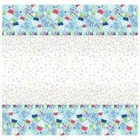 Party Time Plastic Tablecloth, 84 x 54 in, Blue, 1ct