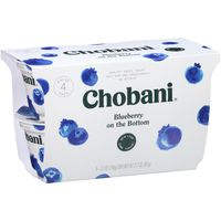 Chobani Yogurt, Greek, Non-Fat, Blueberry, Value Pack