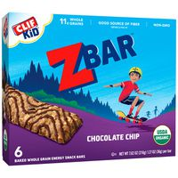 CLIF Kid Organic Chocolate Chip Baked Whole Grain Energy Snack Bars