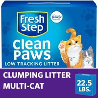 Fresh Step Clean Paws Multi-Cat Scented Litter with the Power of Febreze, Clumping Cat Litter (Multiple Sizes)
