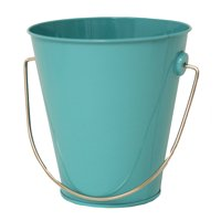 Tin Pail with Handle - Teal