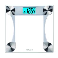 Taylor 7595 Digital Glass Bathroom Scale, 2 User Memory