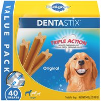 Pedigree Dentastix Large Dental Dog Treats Original, 2.08 lb. Value Pack (40 Treats)