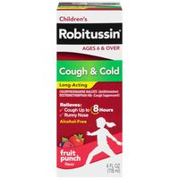 Robitussin Children's Long-Acting Fruit Punch Liquid Antihistamine/Cough Supressant