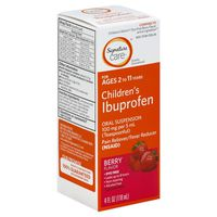 Signature Ibuprofen, Children's, Oral Suspension, Dye Free, Berry Flavor