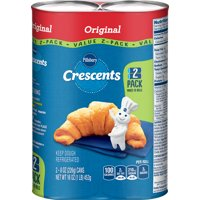 Pillsbury Crescent Rolls Original, 16 ct, 16 oz, 2 pack