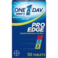 One A Day Men's Pro Edge Multivitamin,Supplement with Vitamins A, C, E,D, and B-Vitamins for Energy Support and Muscle Function, 50 ct.