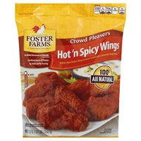 Foster Farms Chicken, Wings, Hot 'n Spicy, Crowd Pleasers, Bag