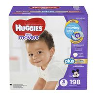Huggies Little Movers Plus Diapers, Size 3, 198 ct