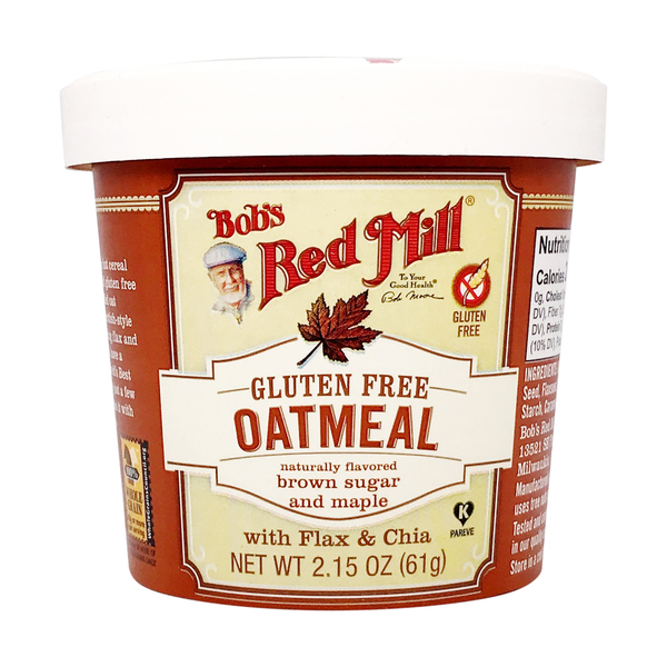 Bob's red mill Brown Sugar And Maple Gluten Free Oatmeal Cup, 2.15 oz