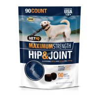 VetIQ Maximum Strength Hip & Joint Supplement for Dogs, 90 Count