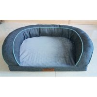 Vibrant Life Comfort Couch Dog Bed, Gray