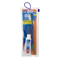 (6 pack) DR. Fresh Soft Toothbrush Travel Kit