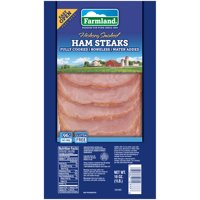 Farmland Hickory Smoked Ham Steaks, 96% Fat Free, Gluten Free, Fully Cooked, Boneless, 16 Ounces