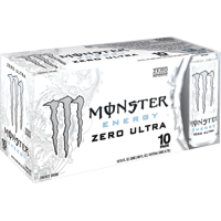 Monster Zero Ultra Energy Drink, 16 Fl. Oz., 10 Count