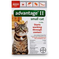 Advantage II Small Cat Once a Month Topical Flea Prevention & Treatment