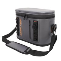 Ozark Trail 12-Can Premium Heat Welded Thermocooler with YKK Zipper, Gray