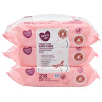 Parent's Choice Powder Fresh Baby Wipes, 3 packs of 72 (216 count)