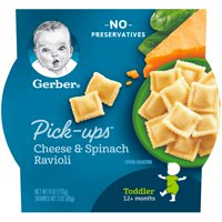 Gerber Pasta Pick-Ups Cheese and Spinach Ravioli 6 oz. Tray