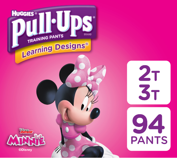 Pull-Ups Girls' Learning Designs Training Pants, Size 2T-3T, 94 Count (Packaging May Vary)
