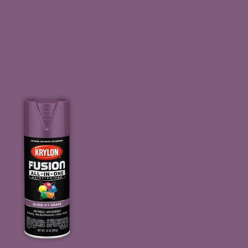Krylon Fusion All-In-One, Gloss, Icy Grape, 12 oz.