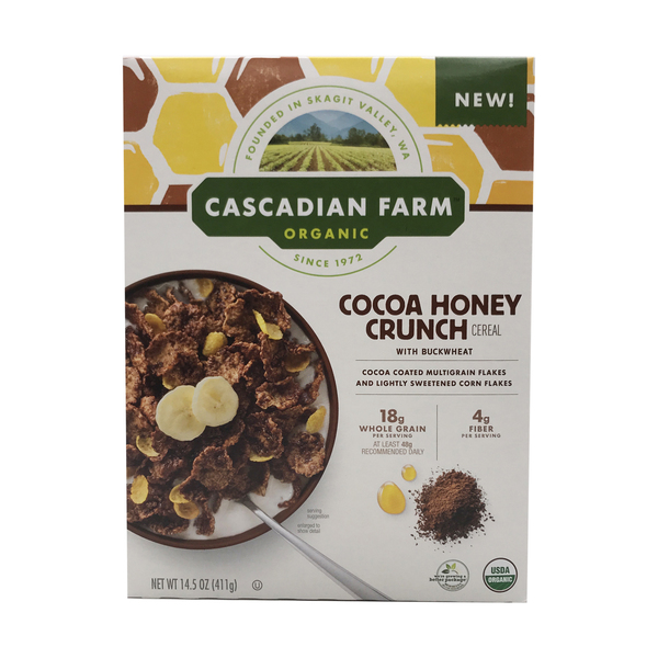 Cascadian farm Organic Frosted Buckwheat & Cocoa Flakes Cereal, 14.5 oz