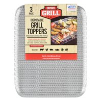 """Expert Grill Disposable Grill Topper, 16"""" x 12"""", 3-Pack"""