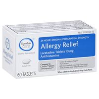 Signature Care Allergy Relief, Loratadine Tablets 10 Mg, Antihistamine