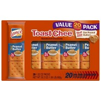 Lance Real Peanut Butter Toast Chee Cracker Sandwiches - 30.3oz - 20ct