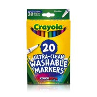 Crayola 20 Count Fine Line Ultra-Clean Washable Markers
