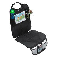 Lulyboo Baby Auto Seat Protector and Carseat Organizer with Clear Device Pocket