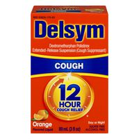 Delsym Day or Night 12 Hour Cough Relief Orange