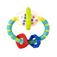 Bright Starts Grab & Spin Rattle and Teether Toy, Ages 3 months +