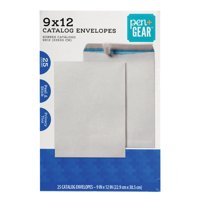 Pen+Gear, 9 x 12 Document/Catalog Privacy Tint Envelopes with Peel & Stick Closure, 25 CT (60771)