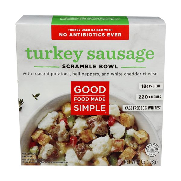 Good food made simple Breakfast Bowl Turkey Sausage, 7 oz