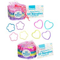 Heart and Flower Shaped Bracelets, 10 pk