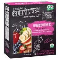 Organic Slammers Superfood Snack Awesome Fruit & Veggie Pouches - 3.17oz 4pk