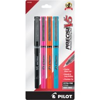 Pilot Precise V5 Premium Rolling Ball Stick Pen, Extra Fine Point, Assorted Ink, 4-Pack