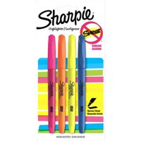 Sharpie Pocket Style Highlighters, Chisel Tip, Assorted, 4 Pack