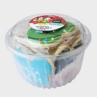 Disney Mickey Mouse & Friends Happy Holidays Decorated Cookie Tub - 8ct