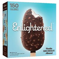 Enlightened Ice Cream Bars, Light, Vanilla Dark Chocolate Almond