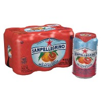 Sanpellegrino Sparkling Fruit Beverages Aranciata Rossa/Blood Orange - 6pk/11.15 fl oz Cans