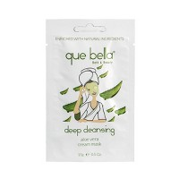 Que Bella Deep Cleansing Aloe Vera Cream Face Mask - 0.5oz
