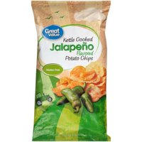 Great Value Kettle Cooked Jalapeño  Potato Chips, 8 Oz.