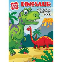 DINOSAURS JUMBO COLOR AND ACTIVITY BOOK